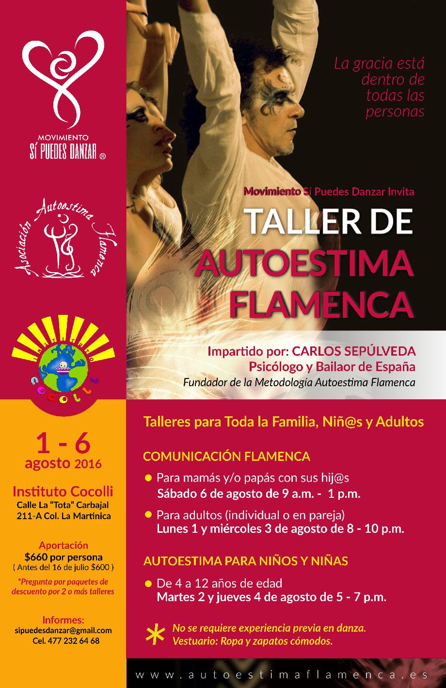 Taller de A. Flamenca en el Instituto Cocolli (México) 2016